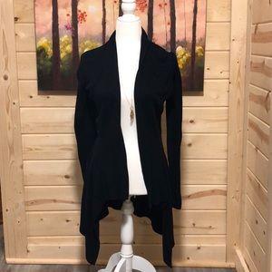 Ann Taylor LOFT black tapered cardigan